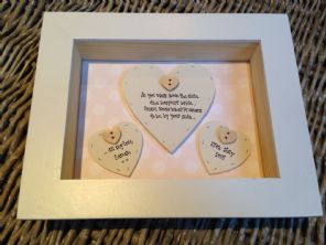 Shabby Personalised Chic Bix Frame Gift For Bride From Bridesmaid Matron Honour